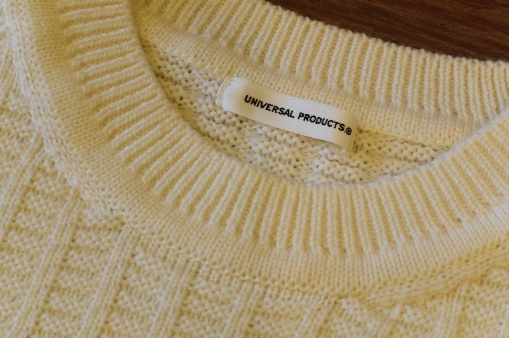 UNIVERSAL PRODUCTS Waffle crew neck knit1