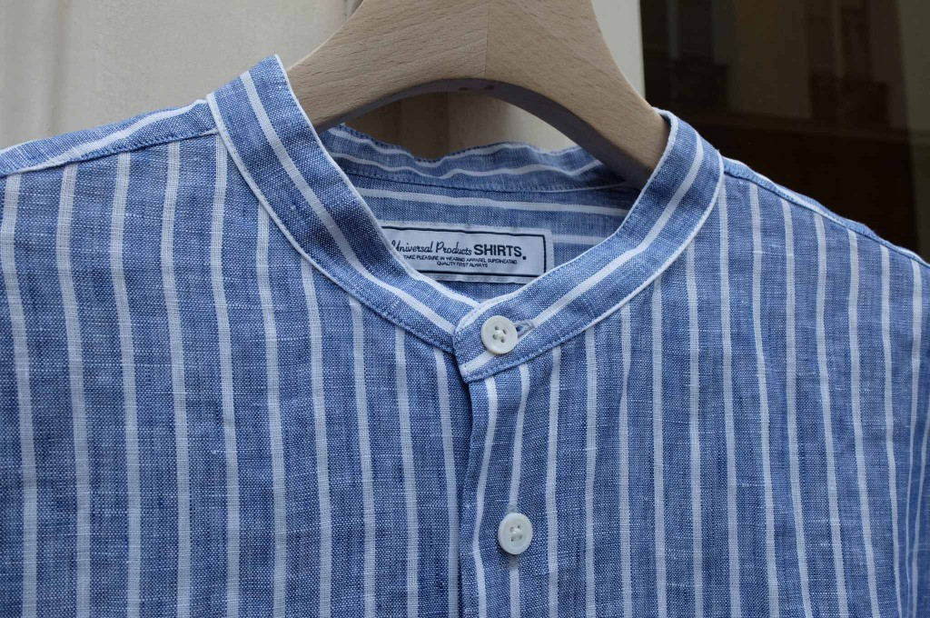 UNIVERSAL PRODUCTS Band collar shirt 2