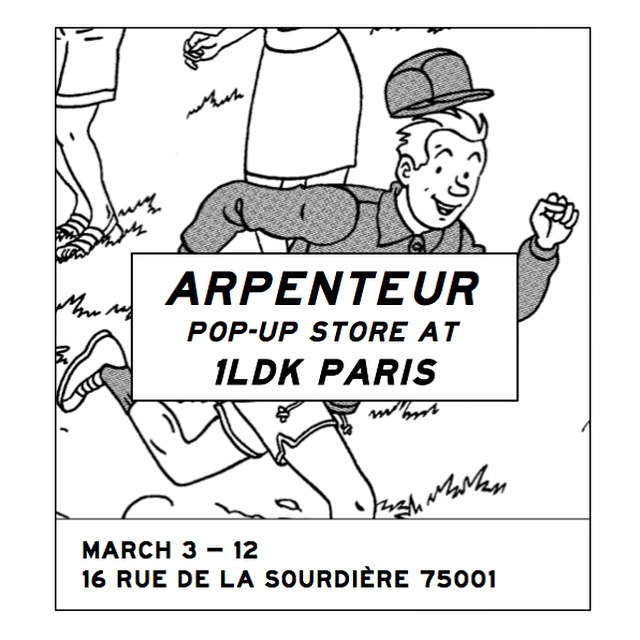 ARPENTEUR POP UP STORE