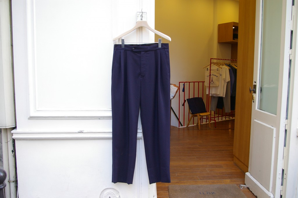 COMOLI FLANNEL BACK STRAP PANTS
