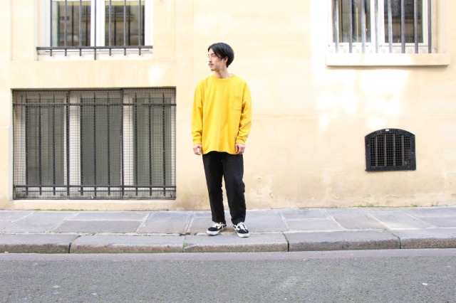 """UNIVERSAL PRODUCTS """"HEAVY WEIGHT L/S TEE"""" NAGATA"""