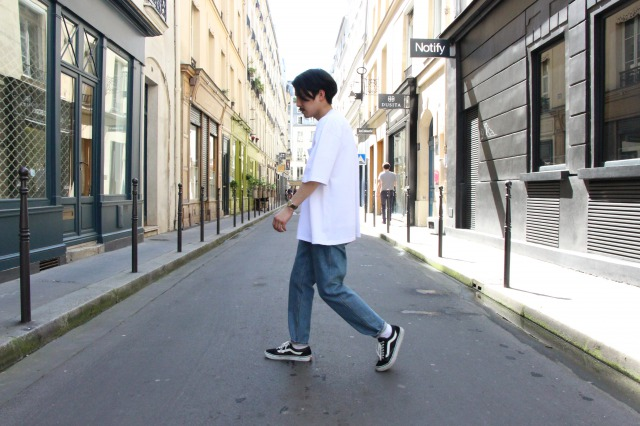 """UNIVERSAL PRODUCTS """"HEAVY WEIGHT S/S TEE"""" NAGATA"""