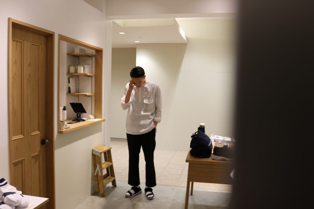 and wander FOR 1LDK / DRY LINEN PULL OVER SHIRTS